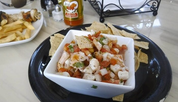 Ceviche in Belize - Belizean food