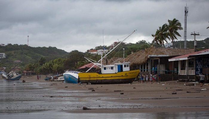 San Juan Del Sur, Nicaragua in the aftermath of Tropical Storm Nate, October 2017