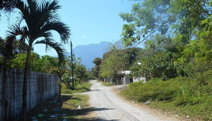 The streets of El Porvenir, Honduras