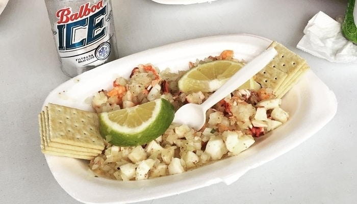 Cerviche at the Panama City Fish Market