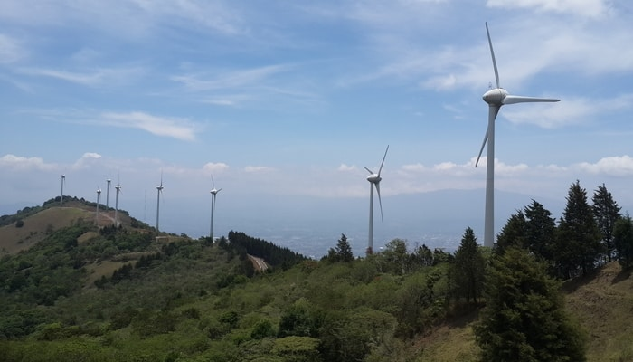 Costa Rican wind turbines