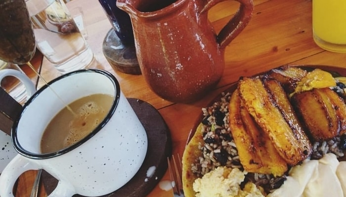Gallo pinto - typical Costa Rican breakfast