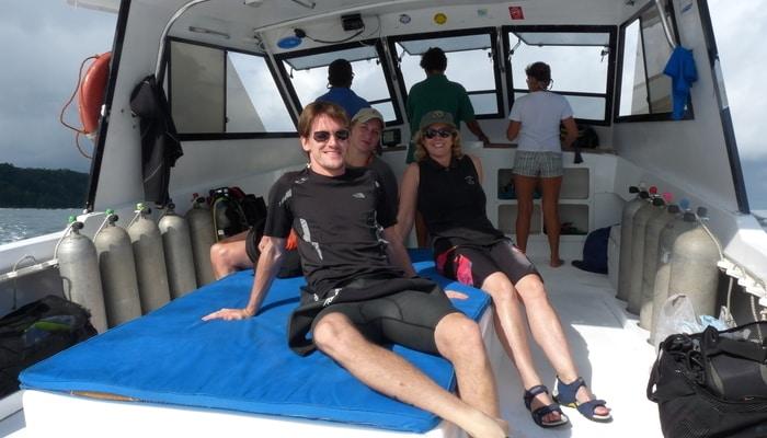 Adam Baker out diving in Costa Rica