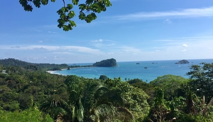 Looking across to Cathedral Point in Manuel Antonio