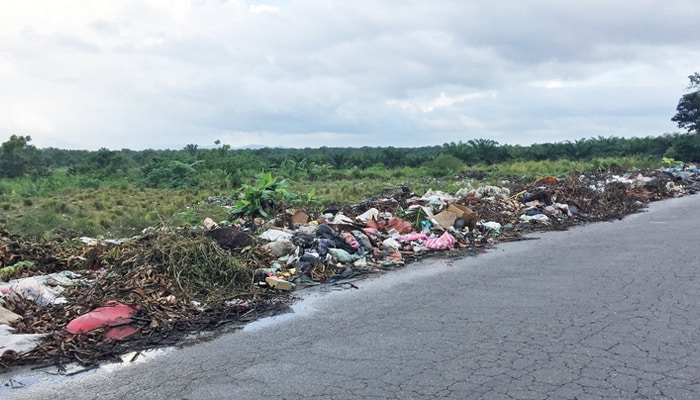 Roadside garbage in Honduras